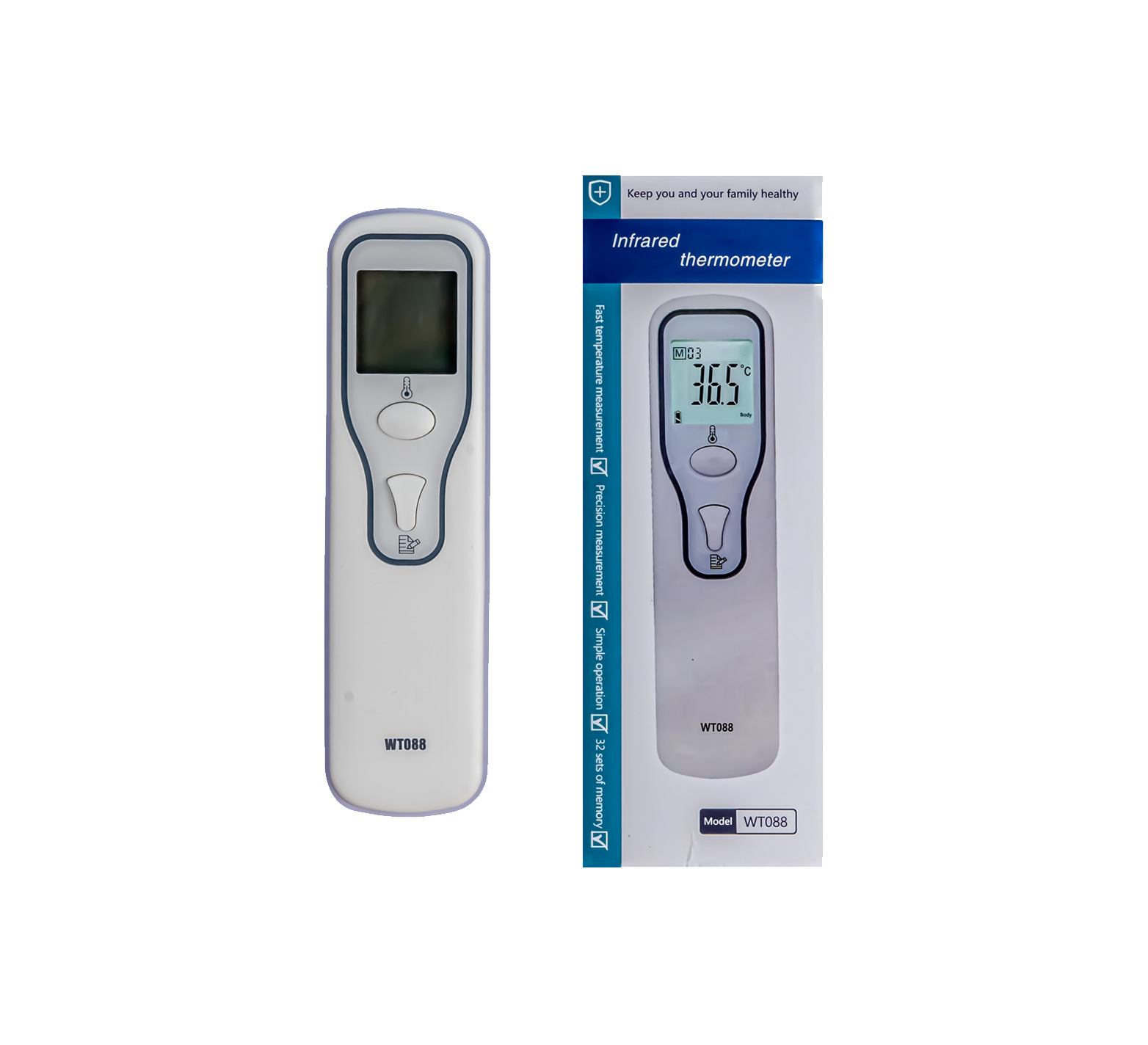 Infrared Thermometer White Front